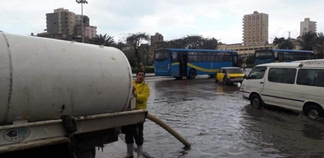 أمطار غزيرة في كفر الشيخ واستمرار غلق بوغاز البرلس