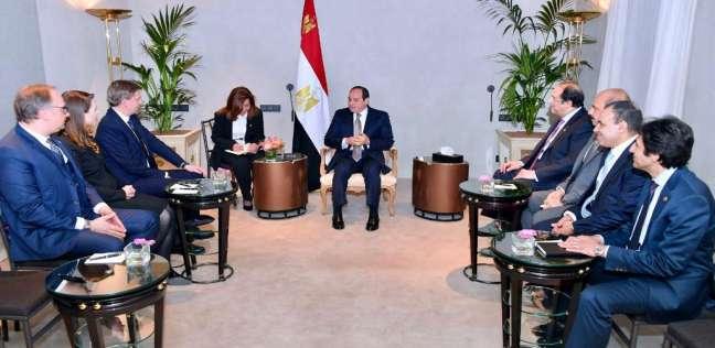 السيسي يستقبل رئيس شركة رودا أند شوارتز العالمية للأمن الإلكتروني