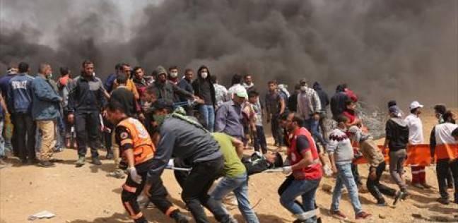 إصابات إثر قمع الاحتلال مسيرة سلمية شمال البيرة