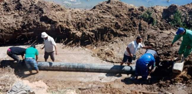 بدء تنفيذ مشروع محطة الصرف بمنطقة علي عيد بتكلفة 23 مليون جنيه