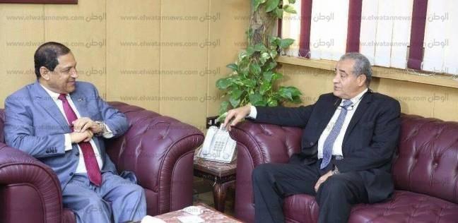 وزير التموين يجتمع مع الشركة المنفذة لمشروع المنطقة اللوجستية
