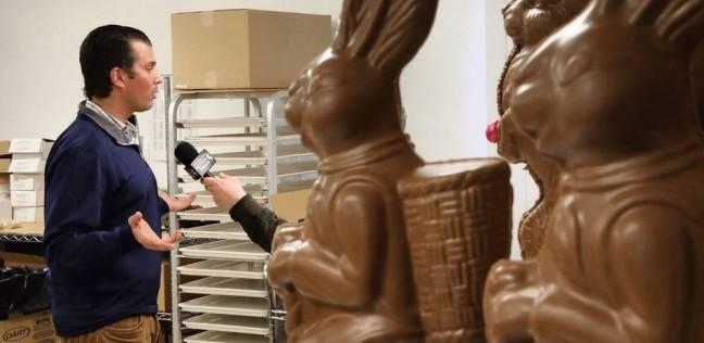 """ترامب الابن و""""أرنب شوكولاتة"""".. لقطة ذكية وتصريح بطعم السخرية"""