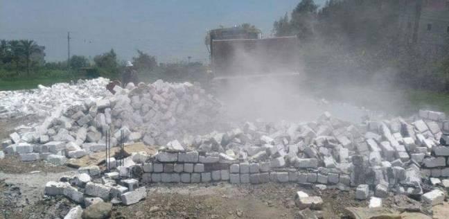 إزالة 85 حالة تعدٍ على الأراضى الزراعية فى كفر الشيخ