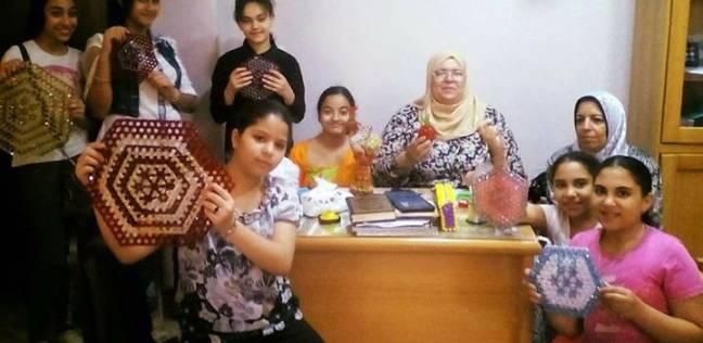 المشغولات اليدوية في ورشة لأطفال الإسكندرية بقصر ثقافة مصطفى كامل