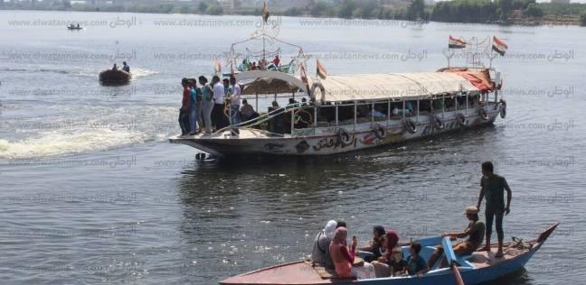 إقبال على الرحلات النيلية بمدن كفر الشيخ في ثاني أيام عيد الاضحى