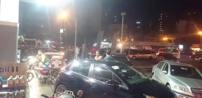 زحام أمام محطات البنزين في الإسكندرية