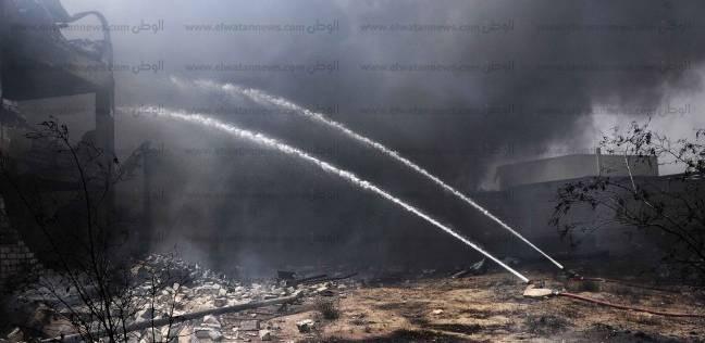 عاجل  حريق هائل في مصنع بالبدرشين