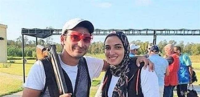 البطل الأوليمبي أحمد قمر وزوجته البطلة ماجي العشماوي