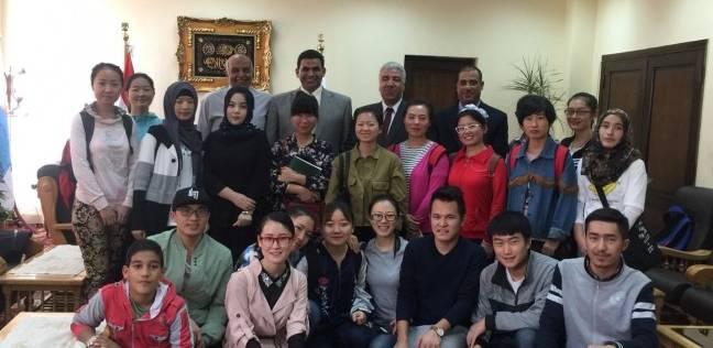 وفد من الطلاب الصينيين يزورون كلية التربية في بنها