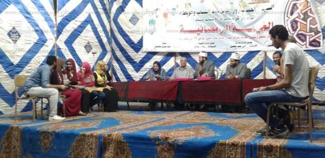 """مسابقات ثقافية ورياضية بـ""""خيمة"""" مركز شباب صلاح سالم في بني سويف"""