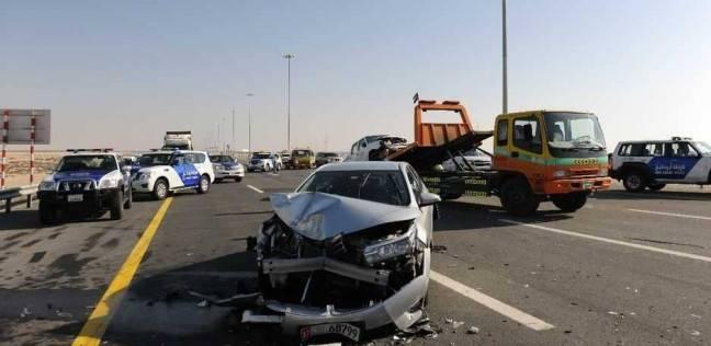 مصرع شخص وإصابة 13 آخرين في حادث تصادم بأبو حماد في الشرقية