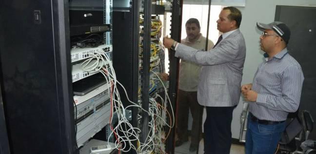 استكمال البنية التحتية لشبكة المعلومات بجامعة سوهاج الجديدة
