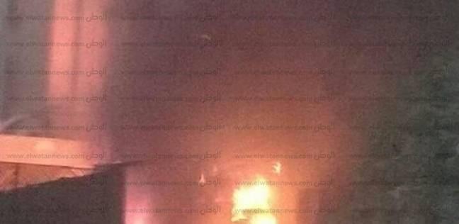 """عاجل  سيارات الإطفاء تسيطر على حريق """"المعادي"""""""
