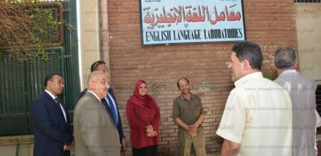 بالصور| رئيس جامعة أسيوط يتفقد وحدات ومرافق الحرم الجامعي