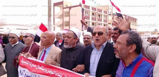 رئيس مدينة رأس سدر يشارك في مسيرة للحث على المشاركة بالانتخابات
