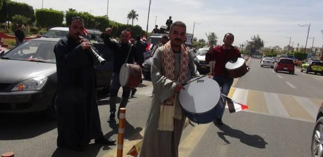 مسيرات بالسويس لحث المواطنين على المشاركة في الانتخابات