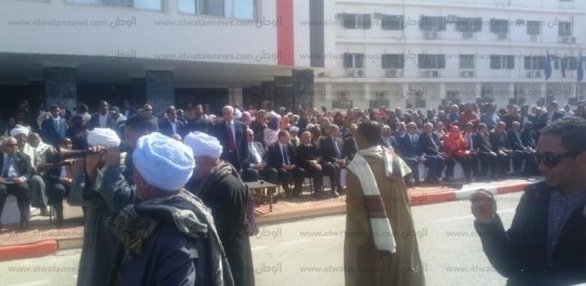 فعاليات الحفل الفني بقصر ثقافة أسوان بمناسبة احتفالات العيد القومي