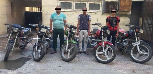 سقوط تشكيل عصابي سرق 5 دراجات نارية في بني عبيد بالدقهلية