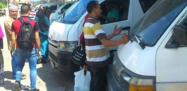 بالصور| نقل الموقف العمومي في كفر سعد بدمياط