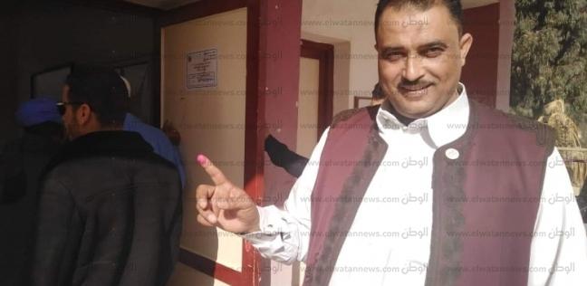 """أمين """"المصريين الأحرار"""" بمطروح يدلى بصوته في لجنة """"الثانوية العسكرية"""""""