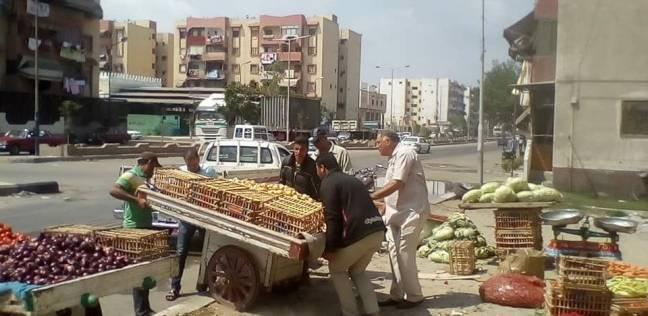 """حملة موسعة لرفع إشغالات الخضر والفاكهة في """"زهور بورسعيد"""""""