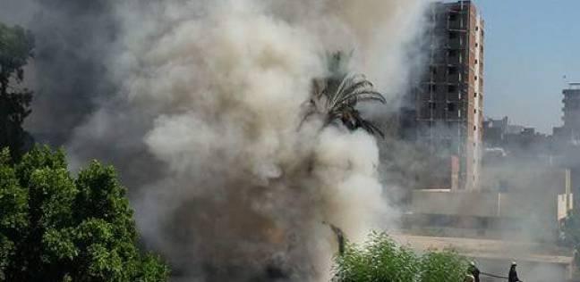 حريق في مخازن مجلس مدينة بنها