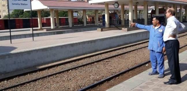 """رئيس """"خدمات السكة الحديد"""" يتابع أعمال نظافة المحطات بعد عطلة العيد"""
