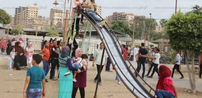 استمرار توافد أهالي الغربية بالحدائق العامة للاحتفال بعيد الأضحى