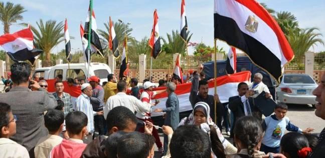 مسيرة حاشدة بشارع المحافظة بطور سيناء للدعوة للمشاركة بالانتخابات