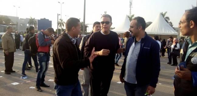 وصول هشام عرفات استاد القاهرة للمشاركة في انتخابات