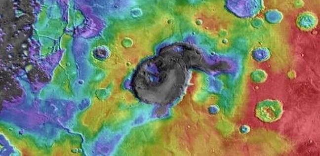ثوران بركاني عملاق علي كوكب المريخ