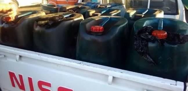 ضبط بنزين مدعم داخل مخزن قبل بيعه في السوق السوداء بالغربية