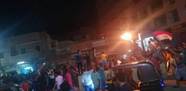 ألعاب نارية وطبول في احتفالات أهالي الفيوم بتأهل مصر للمونديال