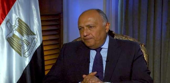 شكري يلتقي عون في مستهل زيارته للبنان