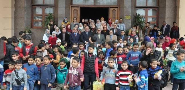 جامعة المنوفية تحتفل بالأيتام ضمن فاعليات قطاع خدمة المجتمع وتنمية البيئة