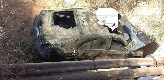 إصابة 5 أشخاص في حادث انقلاب سيارة على طريق مطروح إسكندرية