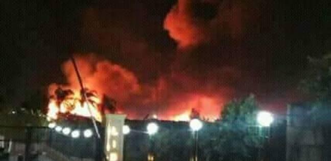 عاجل| حريق هائل بمنطقة تجارية جنوب الأقصر