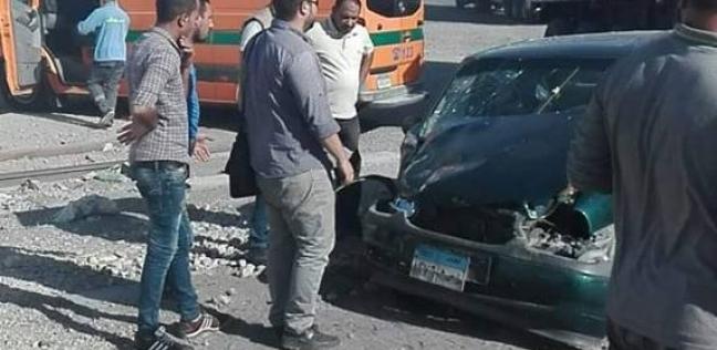"""مصرع طالبة وإصابة 12 في حادث تصادم على طريق """"كفر الشيخ - دسوق"""""""