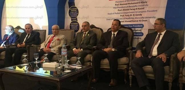 رئيس جامعة المنوفية يفتتح فعاليات المؤتمر السنوي الثالث لطب الأطفال