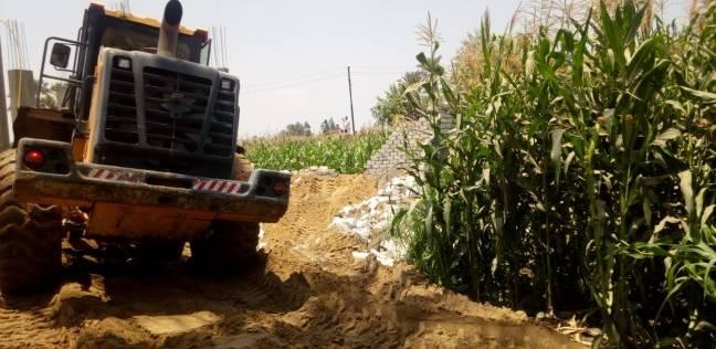 حملة مكبرة لإزالة التعديات بقرية سندوة في الخانكة