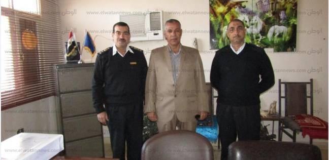 بالصور| رئيس مدينة أبورديس يهنئ قوات الشرطة بمناسبة عيدهم الـ66