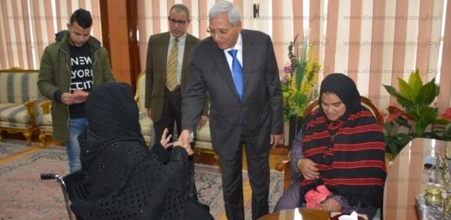 شاروبيم يستقبل سيدة تبرعت بأرضها لإقامة مستشفى سرطان الأطفال بالمنصورة
