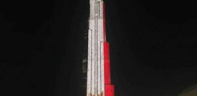 برج خليفة يتزين بعلم مصر