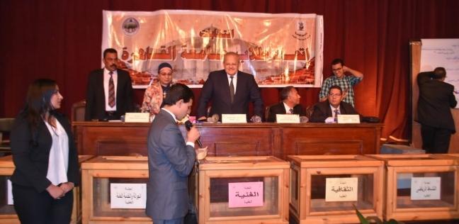 بالصور  انتهاء المرحلة الأخيرة من انتخابات اتحاد طلاب جامعة القاهرة