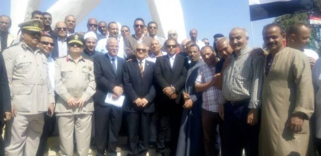 جامعة المنيا تشارك في احتفالات نصر أكتوبر في حضور المحافظ