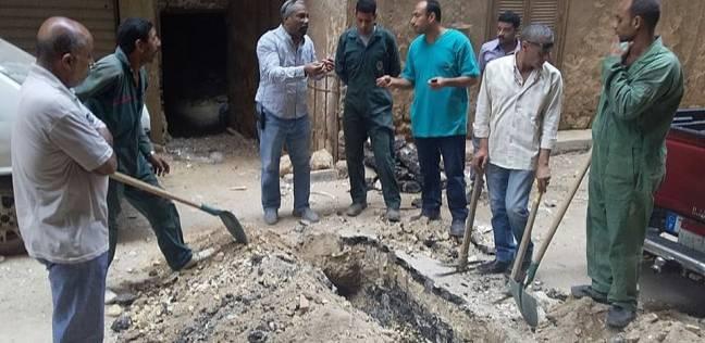 وقف أعمال حفر لتوصيل الغاز لعقارات مخالفة بالزيتون