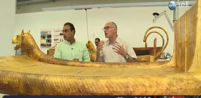بالفيديو  طارق توفيق: ترميم 50 ألف قطعة أثرية لعرضها بالمتحف الكبير