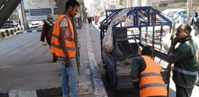 """""""محلية المنيا"""": رفع 20 طن قمامة يوميا خلال حملات النظافة"""