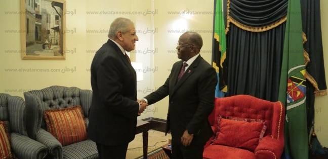 """رئيس تنزانيا يستقبل """"محلب"""" خلال زيارته لبحث نتائج اللجنة المشتركة"""