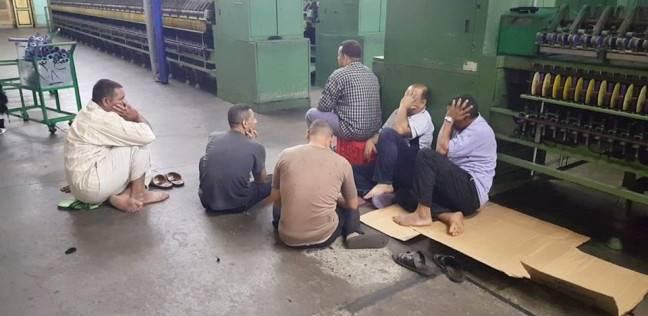 """عمال """"غزل شبين الكوم"""" يواصلون احتجاجهم: الشركة و""""الاستثمار"""" متعنتون"""
